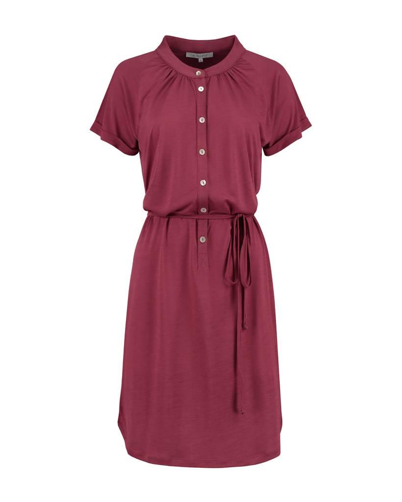 SYLVER Summer Lyocell Dress - Donkerrood