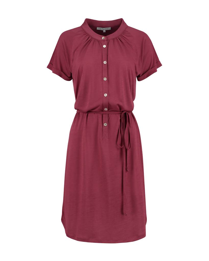 SYLVER Summer Lyocell Dress - Warm Red