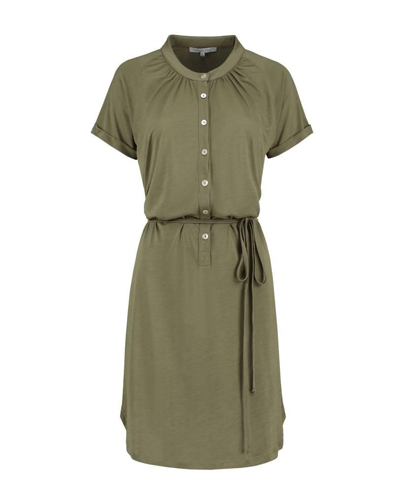 SYLVER Summer Lyocell Dress - Legergroen