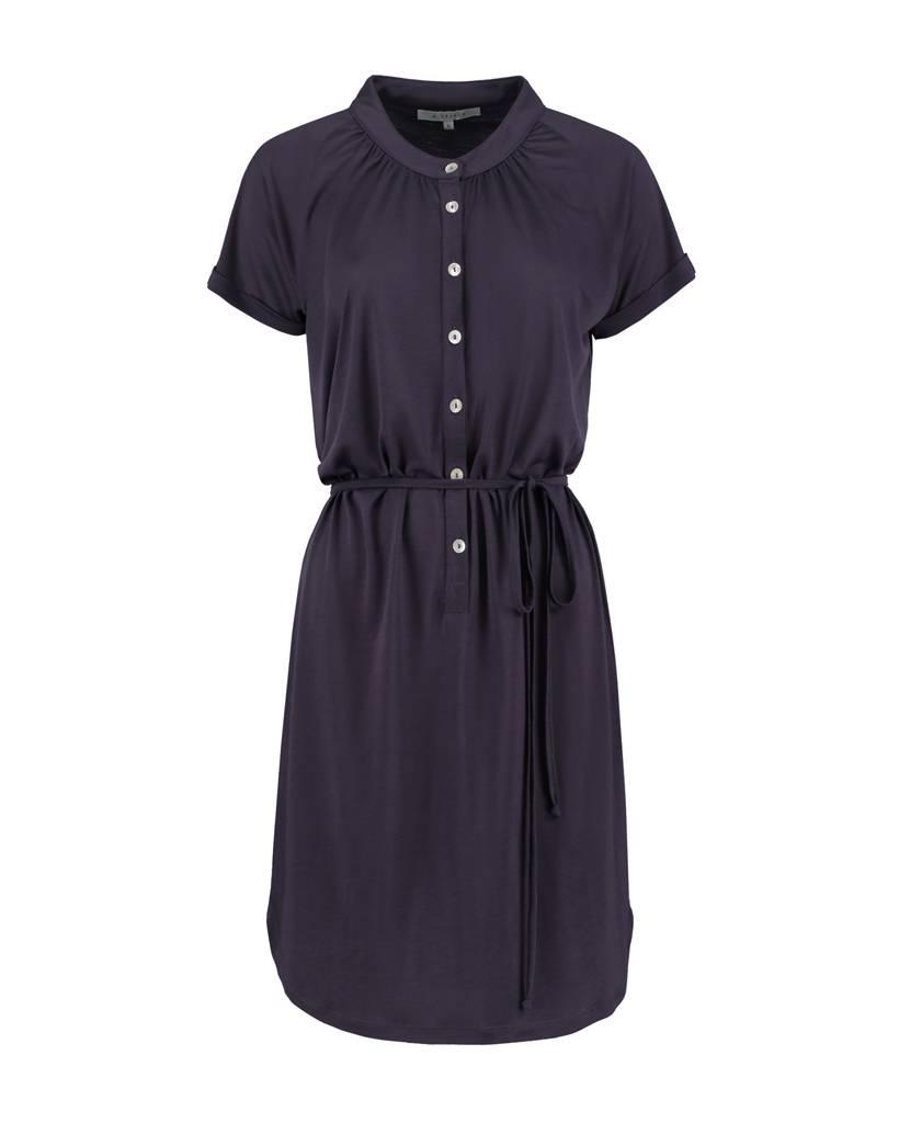SYLVER Summer Lyocell Dress - Dark Purple