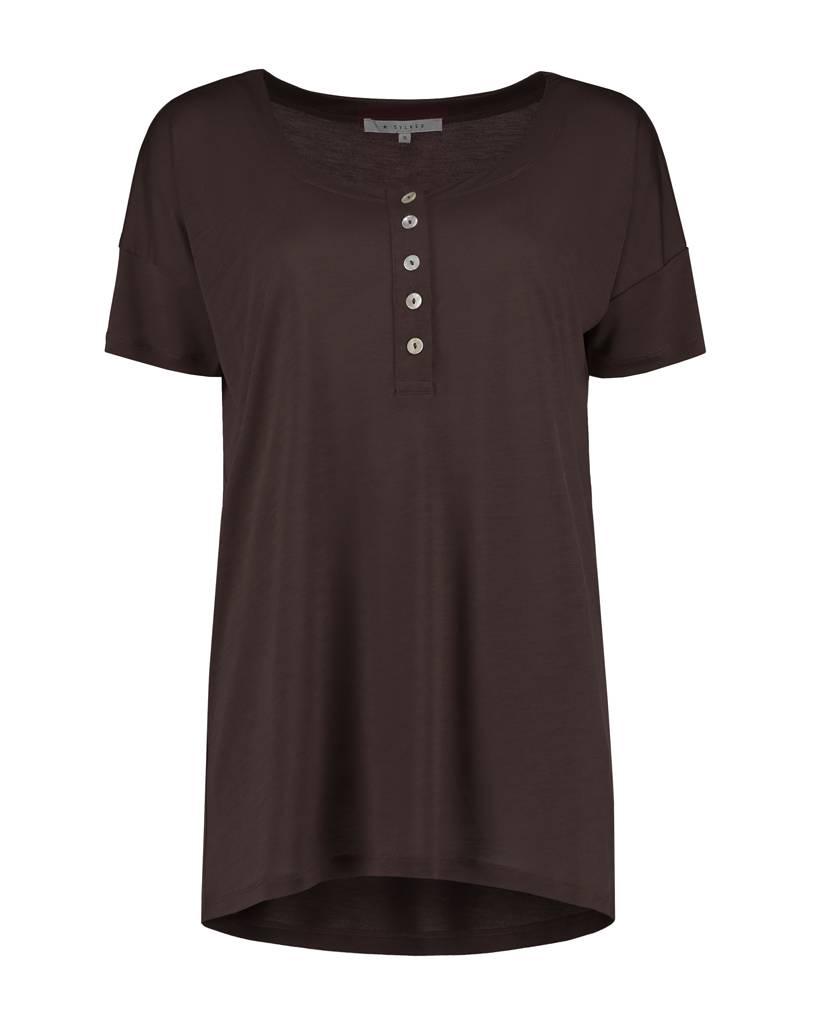 SYLVER Summer Lyocell Shirt Buttons - Brown