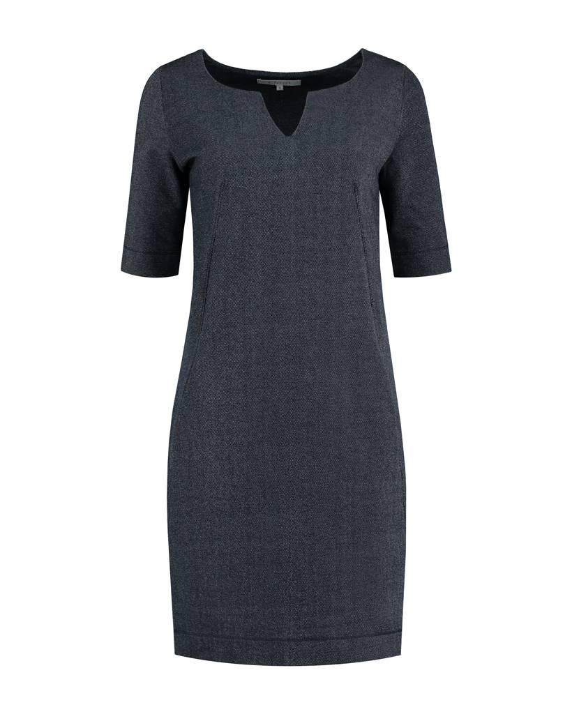 SYLVER Denim Sweat Dress - Jeansblauw