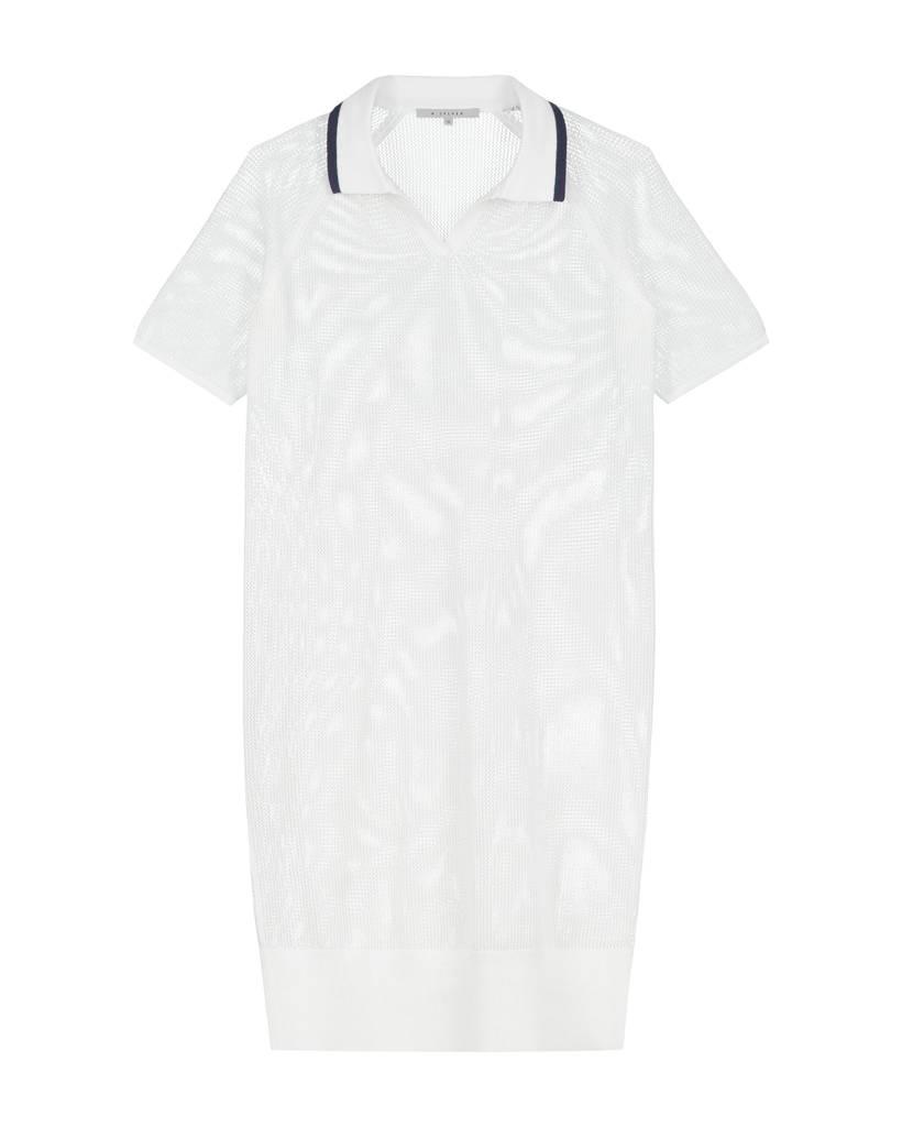 SYLVER Open Knit Dress - White
