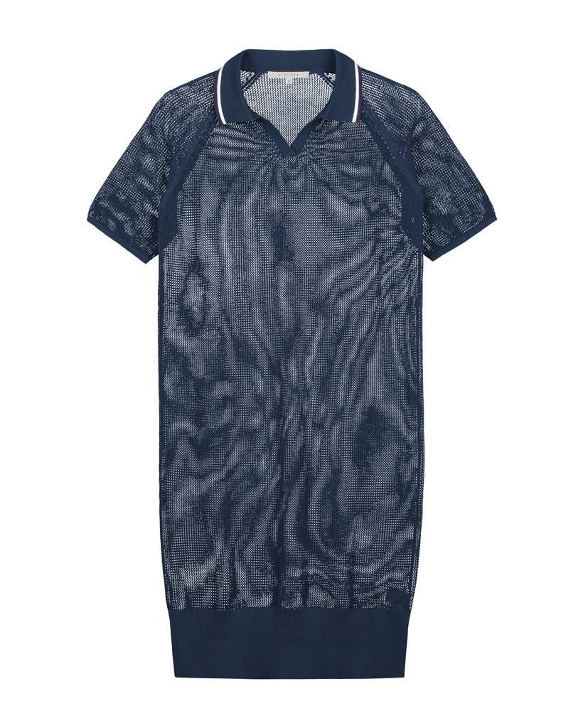 SYLVER Open Knit Dress - Dark Blue