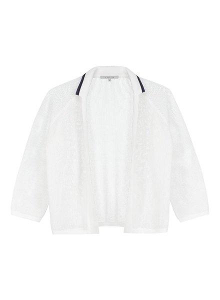SYLVER Open Knit Cardigan - White