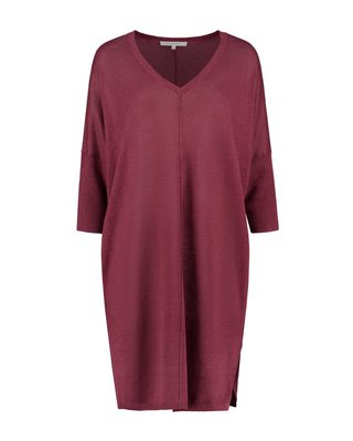 SYLVER 100% Linen Dress - Warm Red