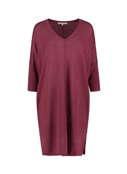 SYLVER 100% Linen Dress - Warm Red