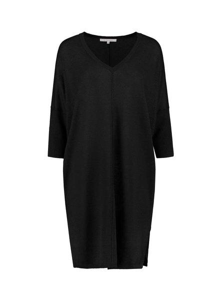 SYLVER 100% Linen Dress - Zwart