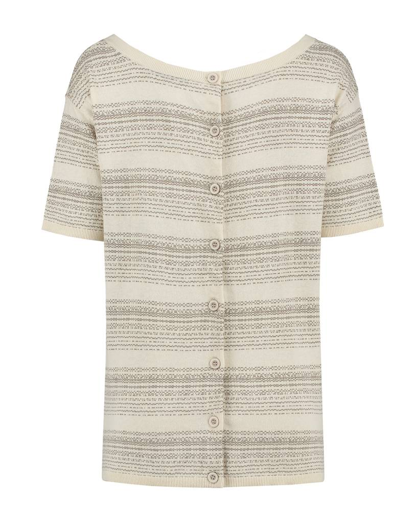 SYLVER Stripe Knit Cardigan/Shirt - Legergroen