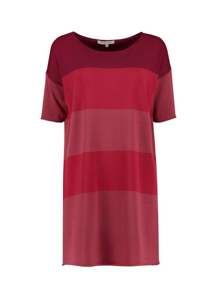 SYLVER Fine Knit Tunic - Warm Red