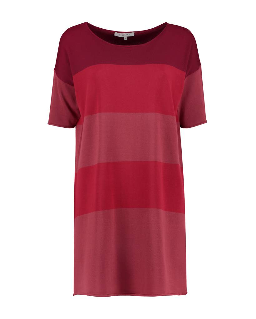 SYLVER Fine Knit Tunic - Donkerrood