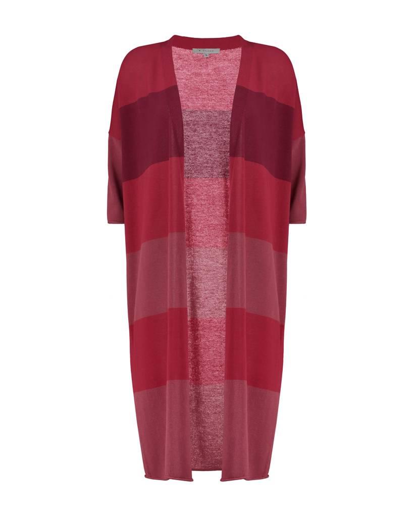 SYLVER Fine Knit Cardigan - Warm Red