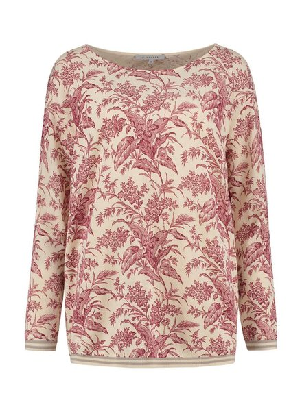 SYLVER Flower Knit Pull - Donkerrood