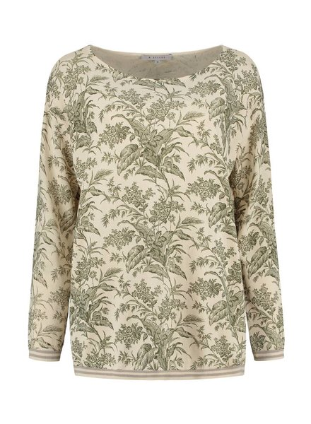 SYLVER Flower Knit Pull - Army