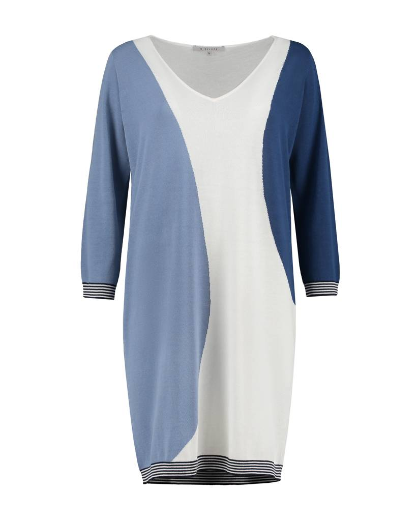 SYLVER High Twisted Tunic 3-Tone - Lichtblauw