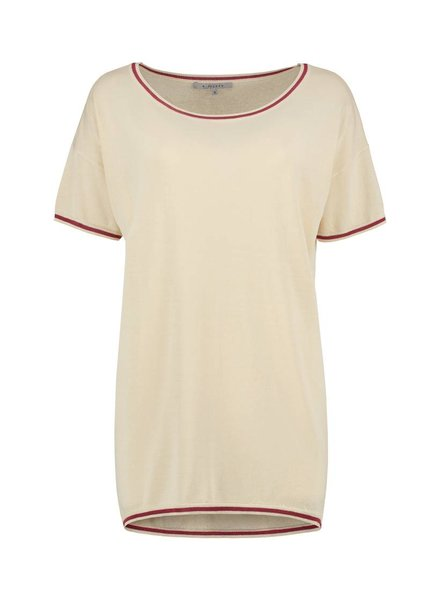 SYLVER High Twisted Pull Short Sleeve - Cream