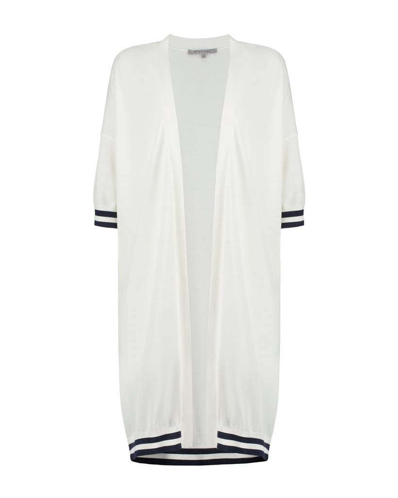 SYLVER High Twisted Cardigan - White