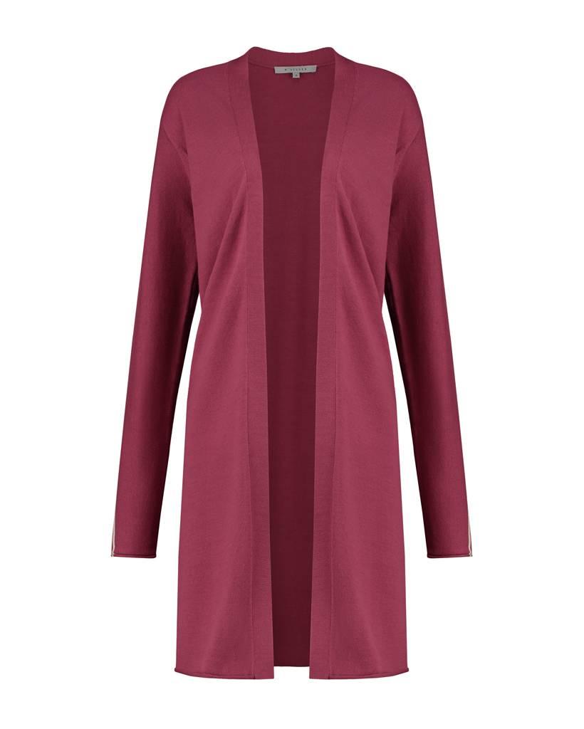 SYLVER Cotton Comfort Cardigan - Warm Red