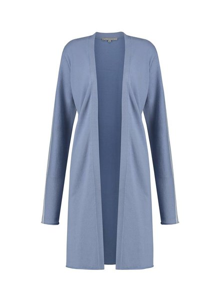 SYLVER Cotton Comfort Cardigan - Lichtblauw