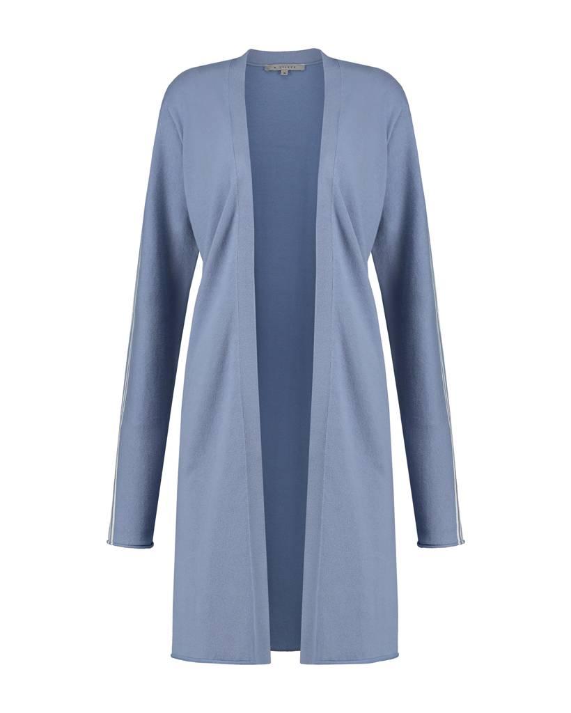 SYLVER Cotton Comfort Cardigan - Grey Blue