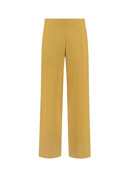 SYLVER Poplin Trousers Fashion - Okergeel