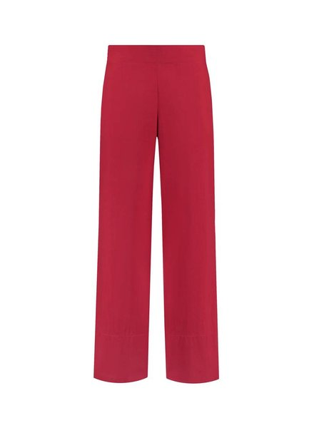 SYLVER Poplin Trousers Fashion - Red