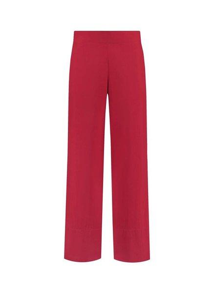 SYLVER Poplin Trousers Fashion - Rood