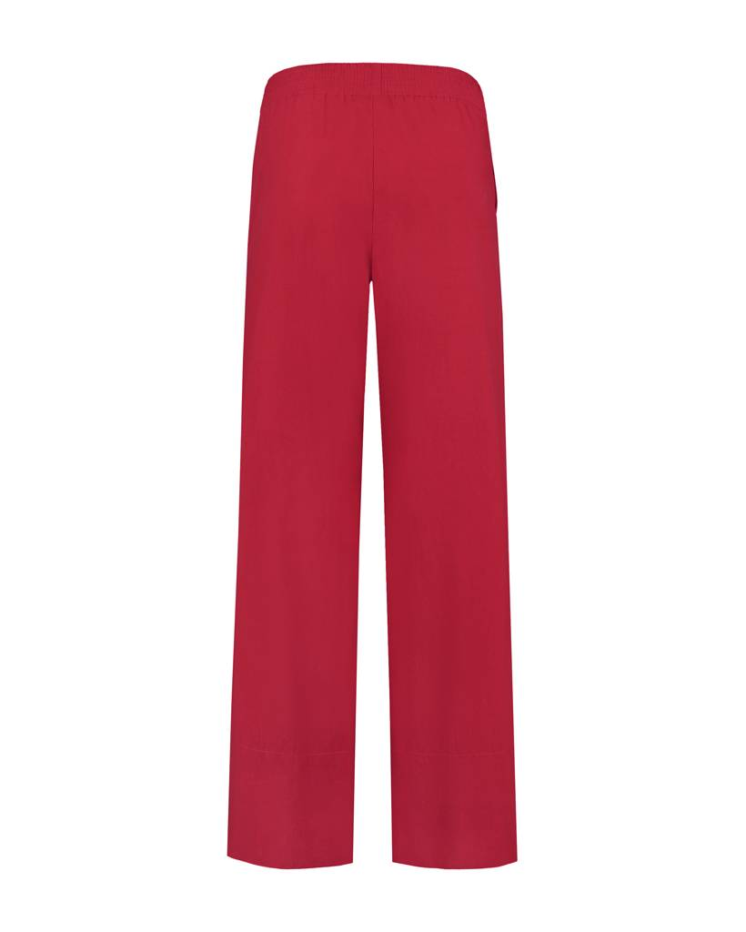 SYLVER Poplin Trousers Fashion - Rood