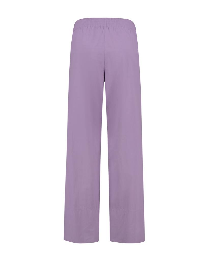 SYLVER Poplin Trousers Fashion - Lichtpaars