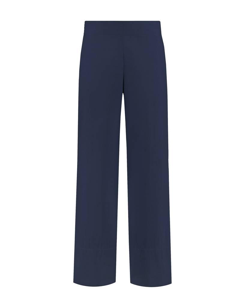 SYLVER Poplin Trousers Fashion - Dark Blue