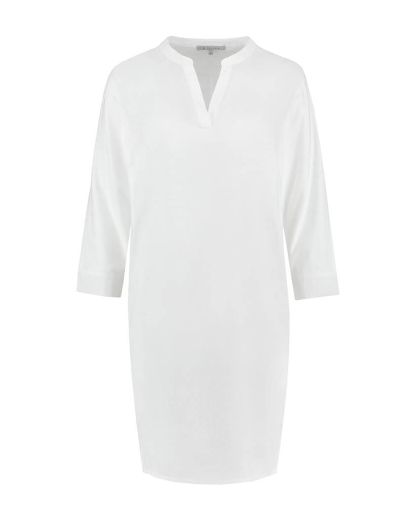 SYLVER Light Linen Dress - Wit