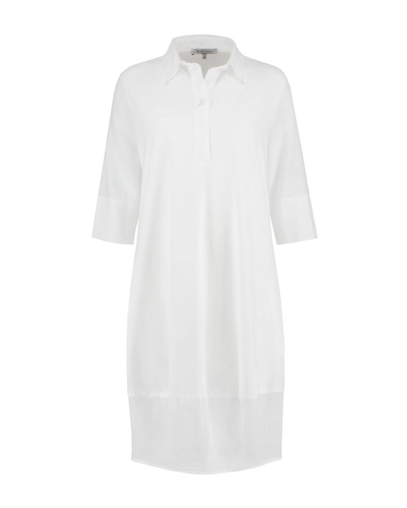 SYLVER Light Linen Dress Balon - Wit