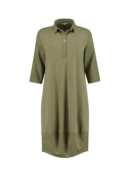 SYLVER Light Linen Dress Balon - Army