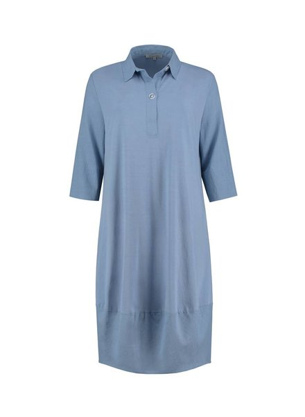 SYLVER Light Linen Dress Balon - Grey Blue