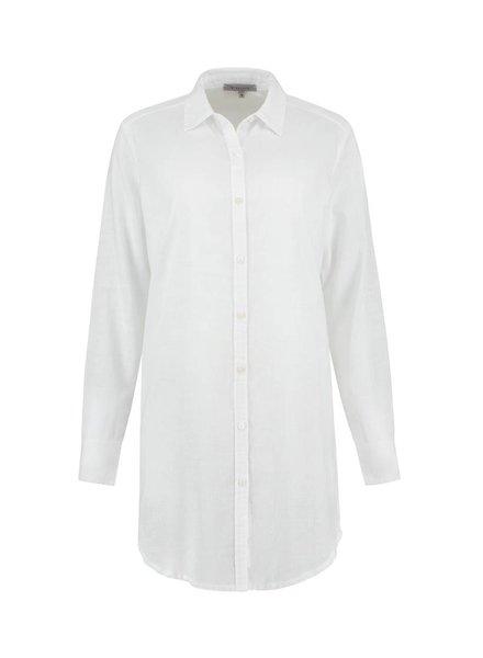 SYLVER Light Linen Blouse Long - White