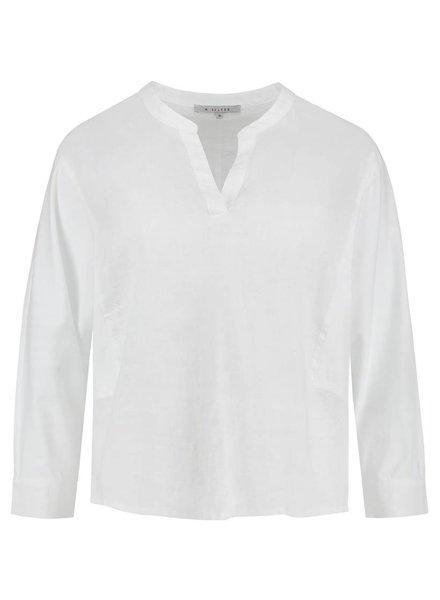SYLVER Light Linen Blouse Short - White