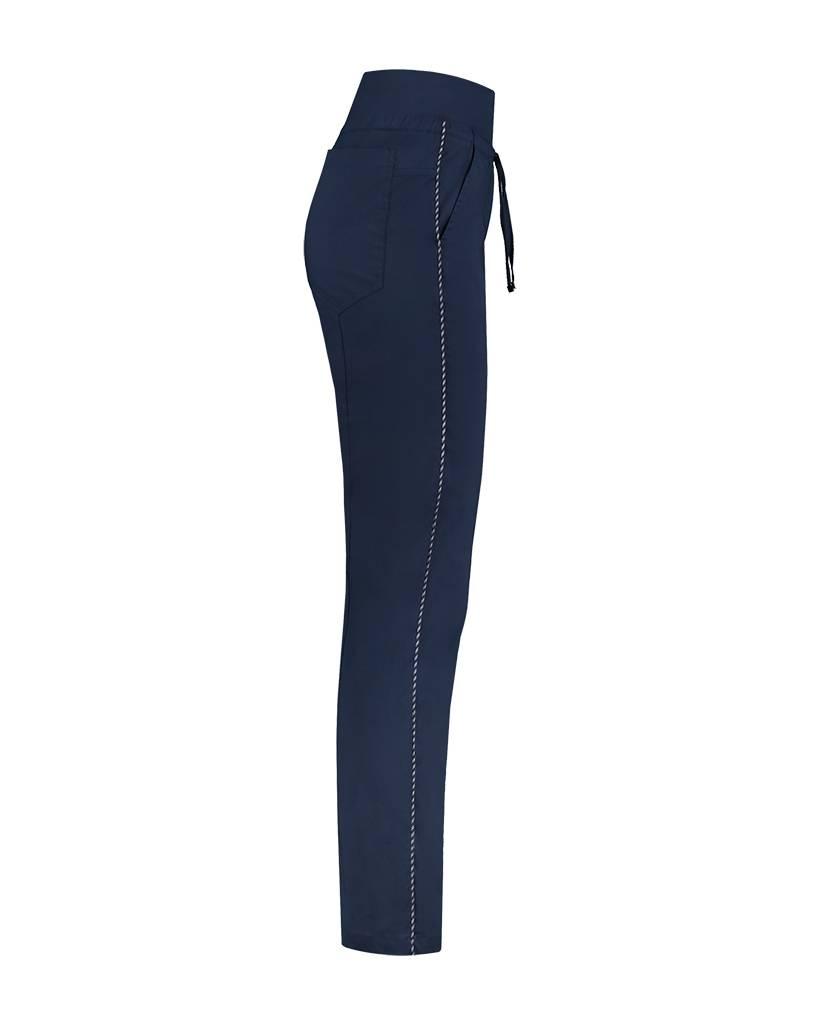 SYLVER Stretch Poplin Trousers - Donkerblauw