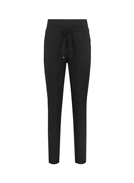 SYLVER Stretch Poplin Trousers - Black
