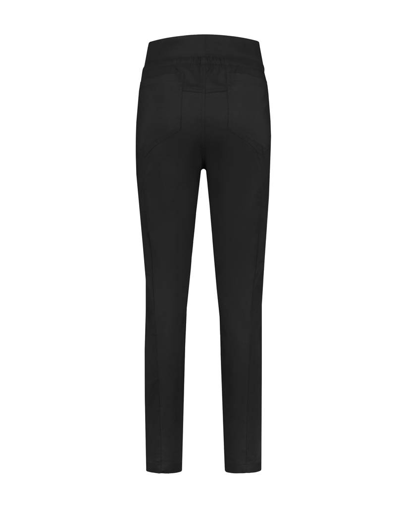 SYLVER Stretch Poplin Trousers - Zwart