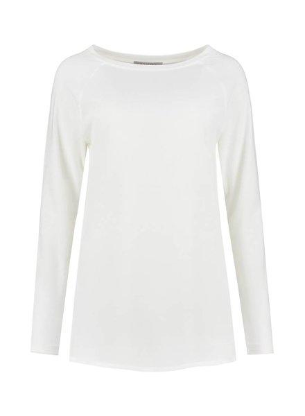 SYLVER Crêpe combi  Shirt - Gebroken wit