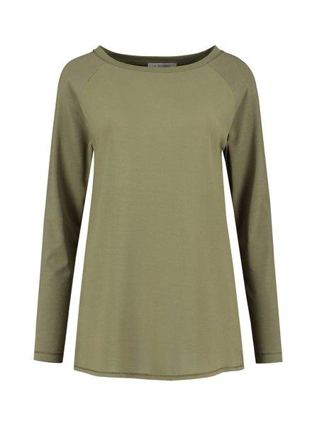 SYLVER Crêpe combi  Shirt - Army