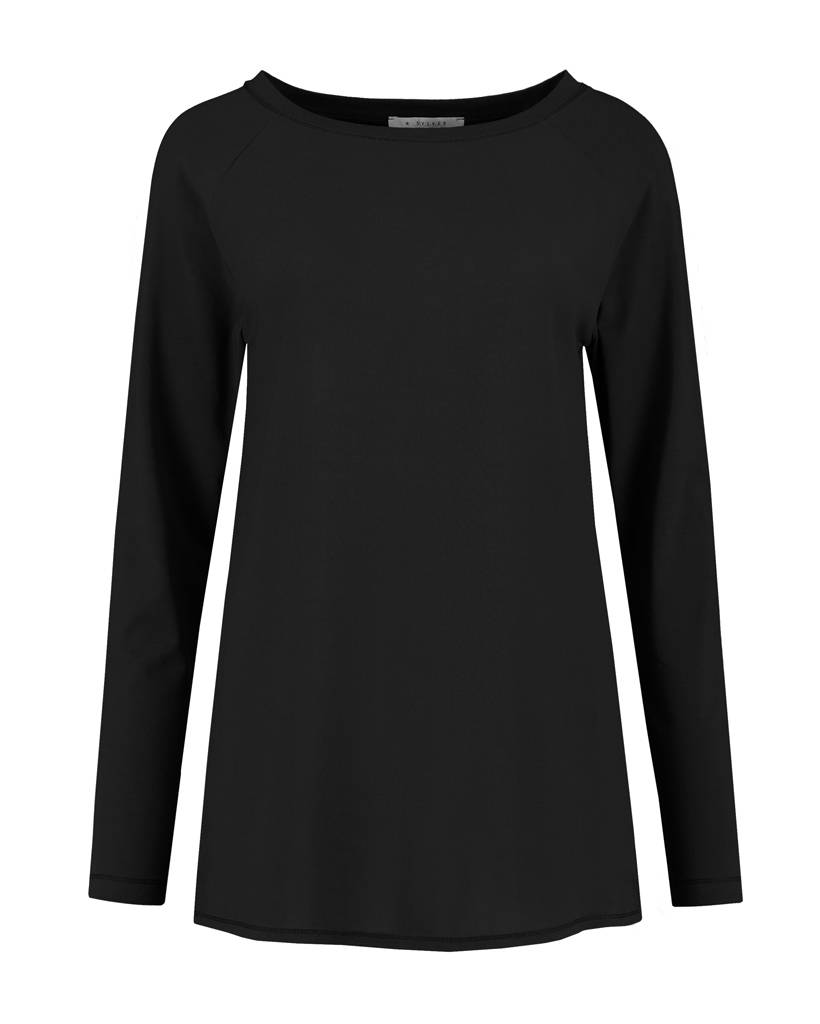 SYLVER Crêpe combi  Shirt - Zwart