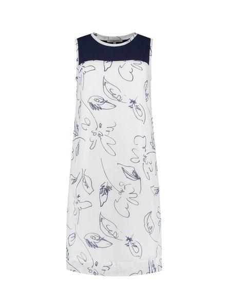 SYLVER Scratch Dress - Donkerblauw