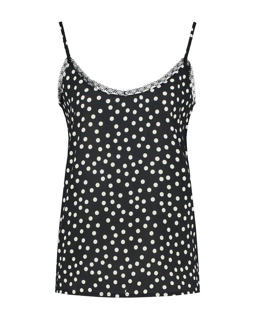 SYLVER Dots Top - Black