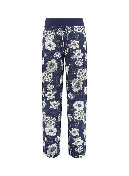 SYLVER Multi Flower Trousers - Dark Blue