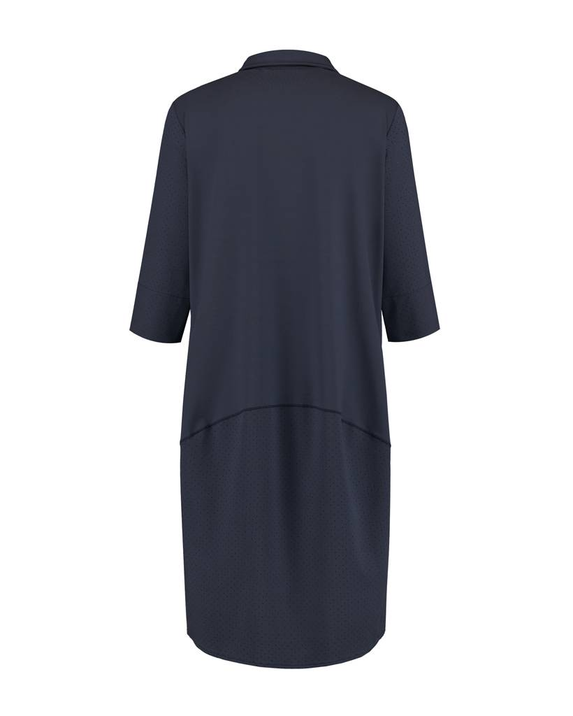 SYLVER Silky Jersey Dress Ballon - Donkerblauw