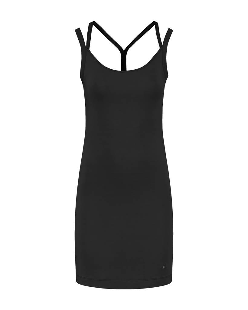 SYLVER Cotton Elasthane Dress Crossed - Black