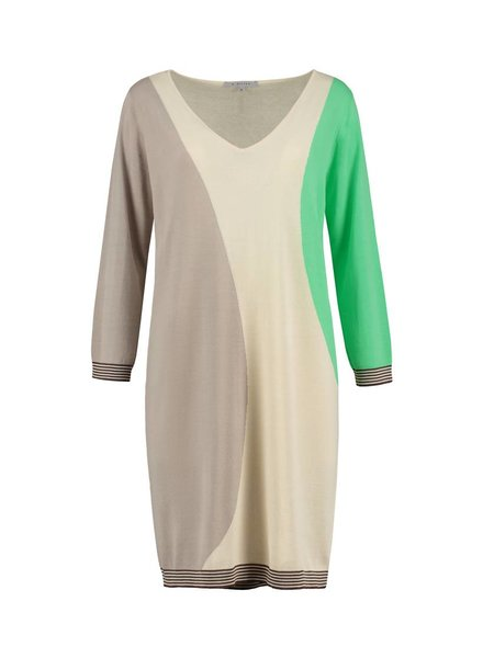 SYLVER High Twisted Tunic 3-Tone - Spring Green
