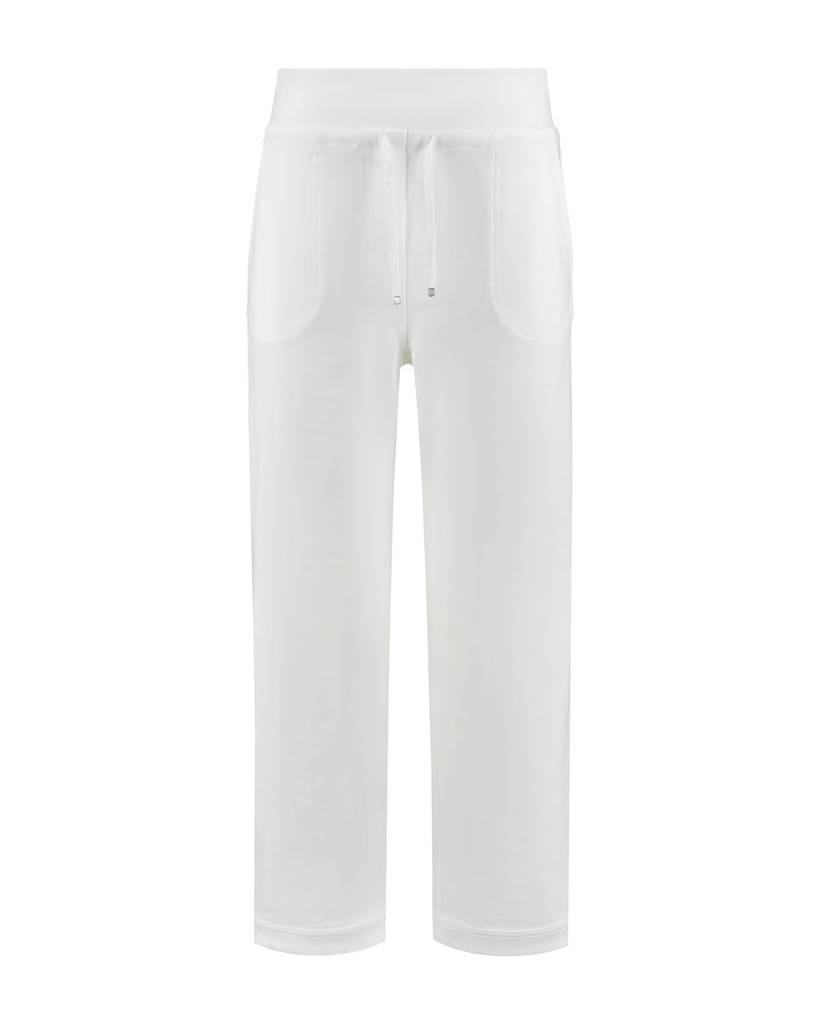 SYLVER Light Slub Trousers Wide - Wit
