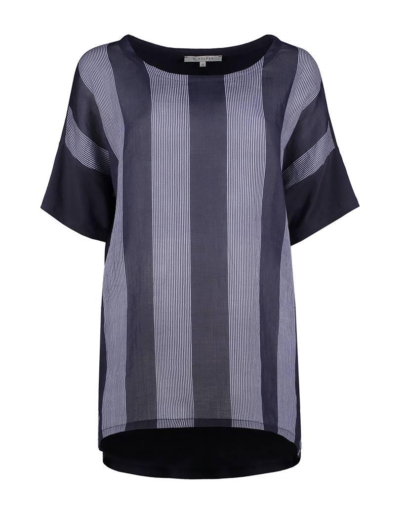 SYLVER Stripes Shirt - Donkerblauw